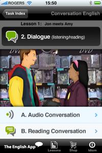 Conversation English (from the EnglishApp com)